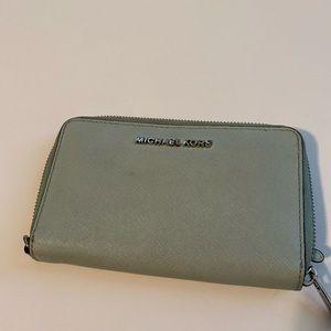 Michael Kors mint color wallet